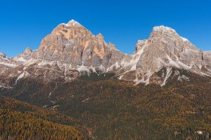 Autumn in Dolomites landscape