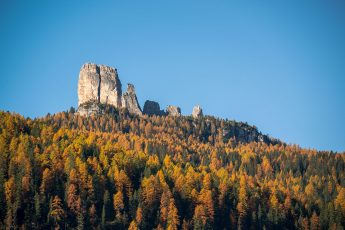 Autumn in Dolomites landscape